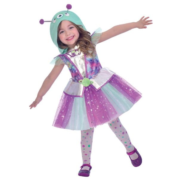Adorable Alien Costume Childrens Fancy Dress Outfit